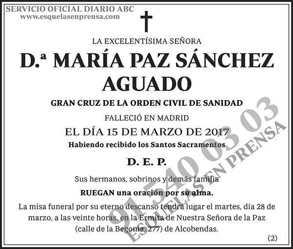 María Paz Sánchez Aguado